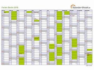 Kalender Zum Ausdrucken 2016 : ferien berlin 2016 ferienkalender zum ausdrucken ~ Whattoseeinmadrid.com Haus und Dekorationen