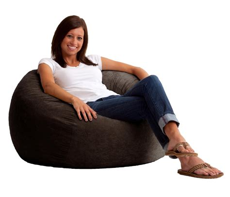 King Fuf Bean Bag Chair by Comfort Research 5 King Fuf Bean Bag Chair In Espresso
