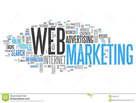 marketing web word cloud web marketing stock photo image 36319170