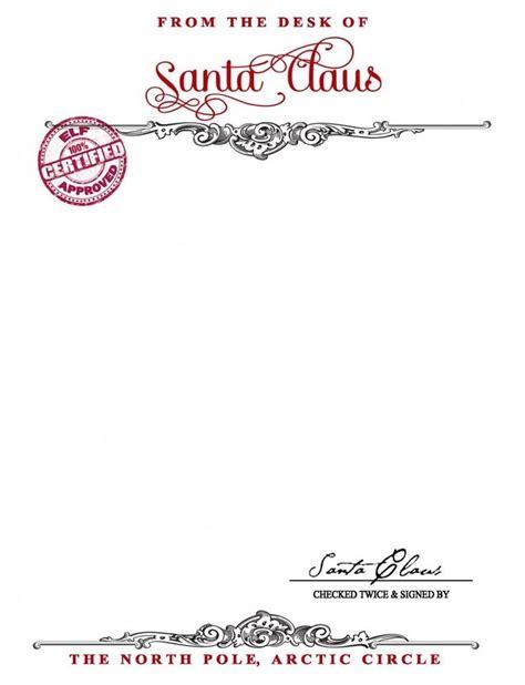 santa letterhead clipart pinterest  printable