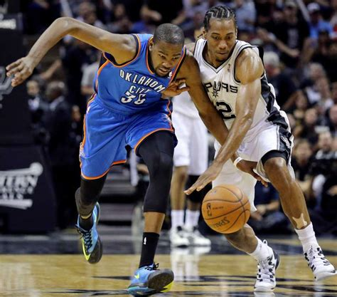kawhi leonard enters spurs thunder series  equal footing  kevin durant san antonio