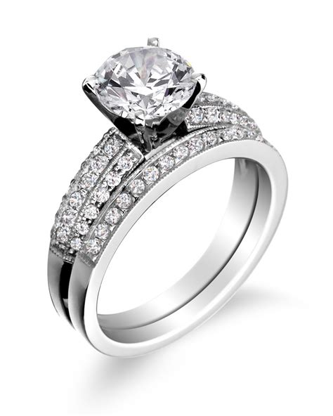 wedding ring with engagement ring engagement rings wedding bands in battle creek mi