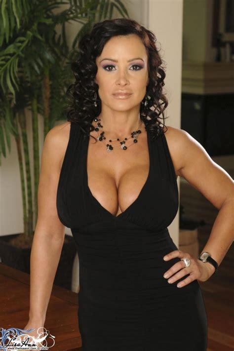 Lecherous Brunette Lisa Ann Strips Her Black Evening Gown