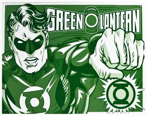 green lantern tin metal sign dc comics comic book hero