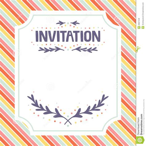 invitations templates free invitation template stock vector illustration of occasion 28827548