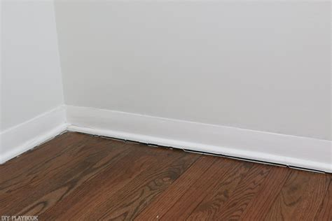 step by step tutorial on how to install new baseboard