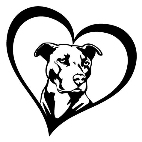 cm pitbull heart animal car stickers decals