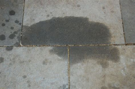 how to remove grease from cement or pavers the