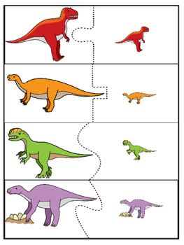 dinosaur matching puzzle game  toddlers