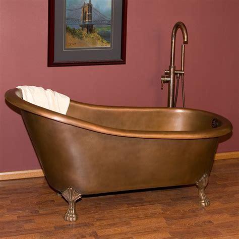 Claw Bathtub by 59 Quot Norah Copper Slipper Tub On Claw Bath