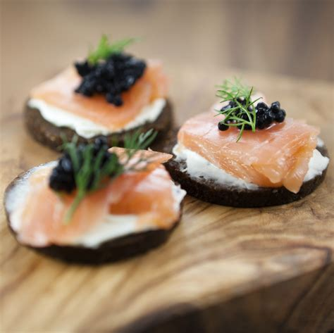 baked canapes salmon canapes recipe dishmaps