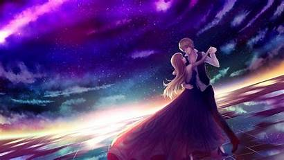 Anime Romantic Wallpapers Couple Dancing Romance Stars