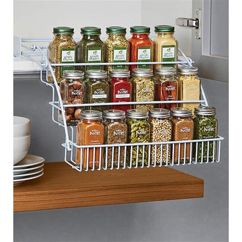 Spice Rack Holder by Rubbermaid Pull Spice Rack Organizer Shelf Cabinet