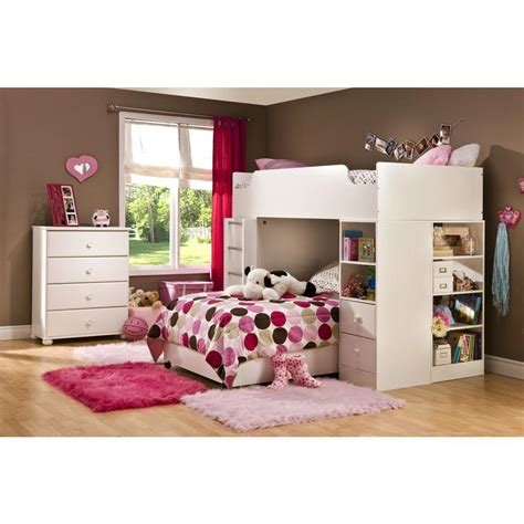 south shore logik  piece pure white twin kids bedroom set