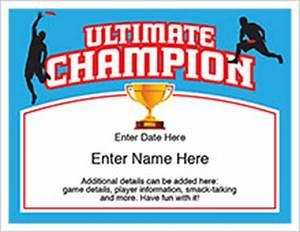 Customizable Award Certificates Champion Certificates Templates For Ping Pong Darts Golf