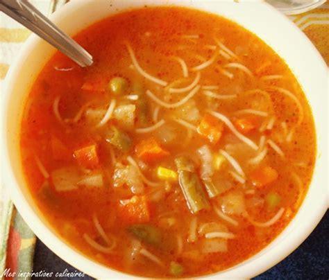 de cuisine marocaine soupe aux legumes express et facile le cuisine de