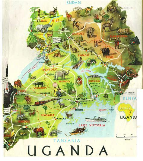 uganda travel bureau uganda touristische karte