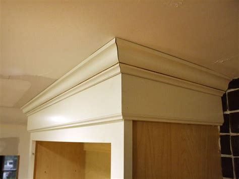 install cabinet crown molding diy home kitchen