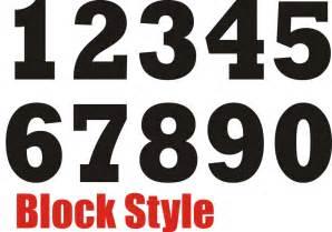 Free Printable Block Numbers