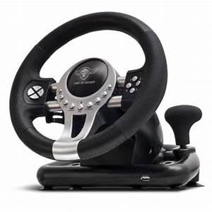 Volant Spirit Of Gamer Race Pro Wheel 2 Noir Pour PC PS3