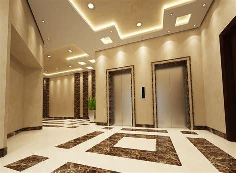 office building reception doha  behance