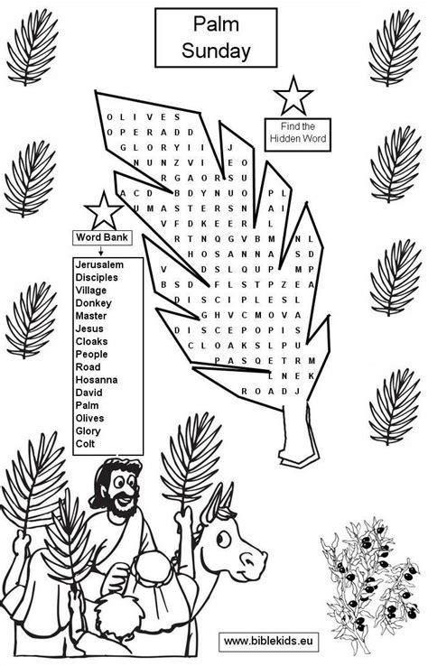 palm sunday word seach puzzle palm sunday crafts palm 442 | 8f94f470f5bbd95474b77b2d811b8216
