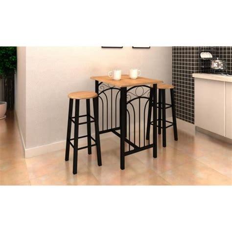 tabouret de cuisine pas cher lot avec une table haute de bar et 2 tabourets 39 39 p achat