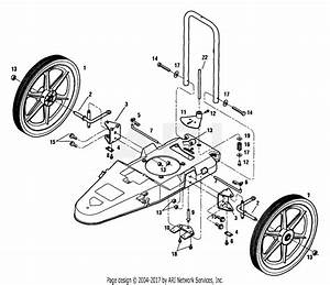 Mtd 25ae110 Mower  2000  Parts Diagram For Lower Steering Assembly