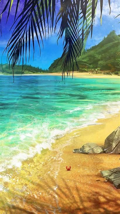 Palm Ocean Iphone Surf Wallpapers Lenovo Desktop