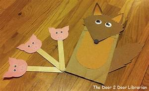 paper bag puppets the door 2 door librarian With wolf puppet template