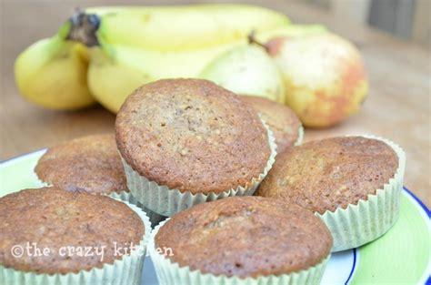 crazy kitchen spiced banana pear lunchbox cupcakes