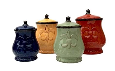 decorative kitchen canister sets country kitchen canister set tuscan decorative red green blue yellow food storag ebay