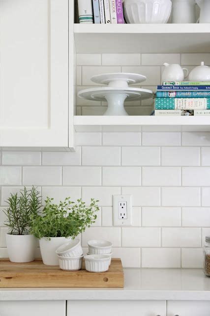 backsplash  white subway tiles  home depot