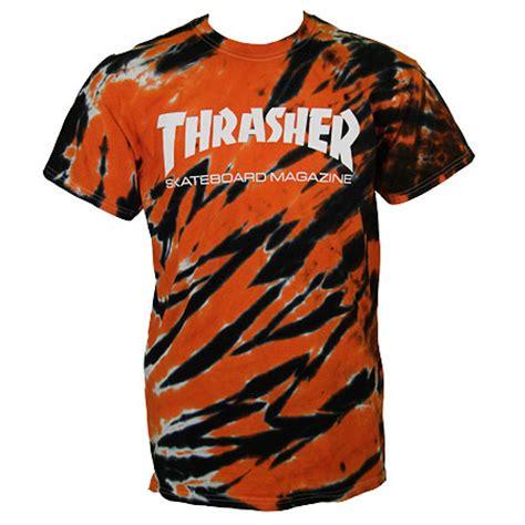 thrasher magazine tiger stripe logo  shirt  stock