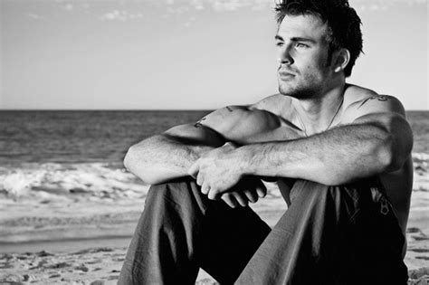 mark rowley sexy actor beach black white chris evans image 683903
