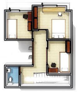 gambar denah rumah minimalis   desain lantai lahan