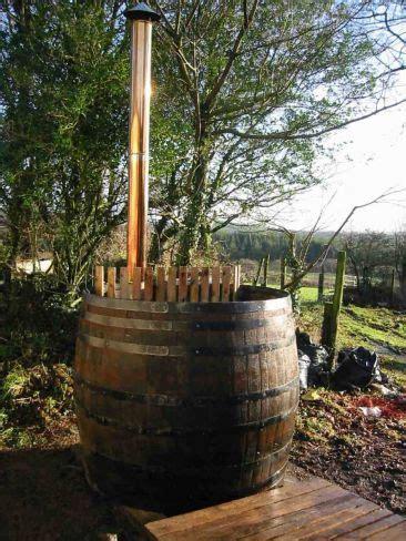 wine barrel tub railway sleepers