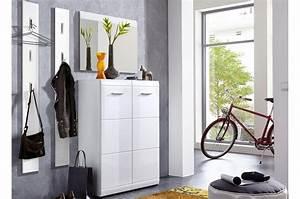 Meuble D Entrée Chaussures : meuble d 39 entr e couloir blanc laqu novomeuble ~ Farleysfitness.com Idées de Décoration