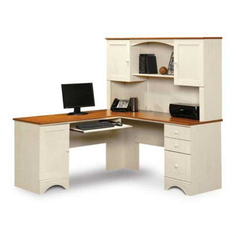 Sauder Harbor View Desk Black by Sauder Harbor View Reversible L Desk W Hutch