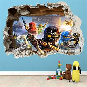 lego ninjago smashed wall sticker 3d bedroom boys girls With coolest ninjago wall decals