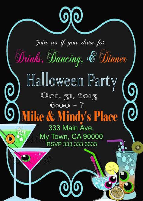 halloween party invitation office party birthday party