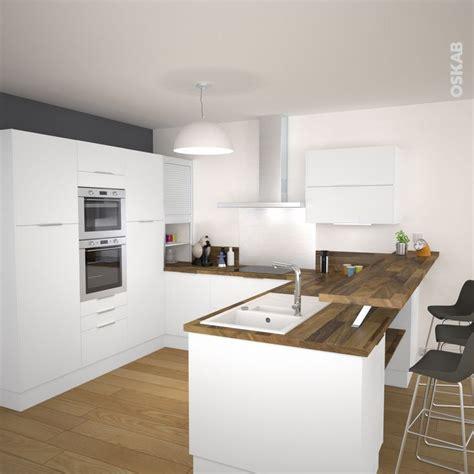 cuisine blanche plan de travail bois 1000 images about cuisine on small kitchens