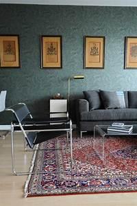 Tapis Salon Moderne : tapis persan dans le salon contemporain en 33 exemples ~ Teatrodelosmanantiales.com Idées de Décoration