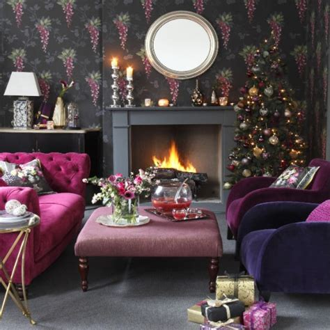 plum sofa decorating ideas christmas mood ideas for your home