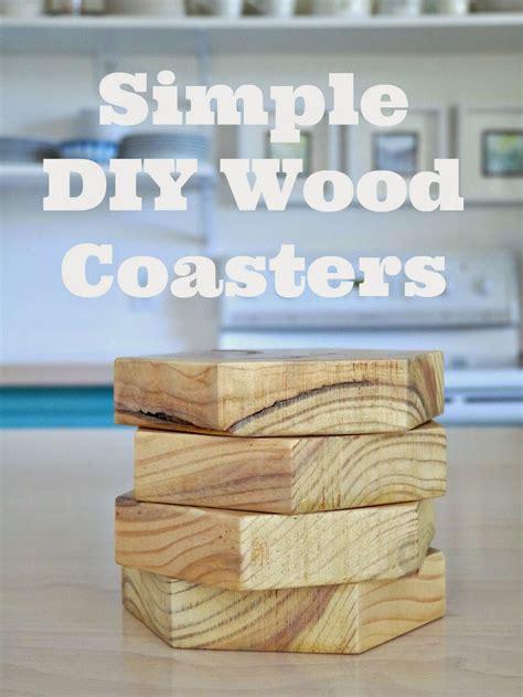 diy wood coasters  ways dans le lakehouse