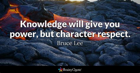 knowledge  give  power  character respect