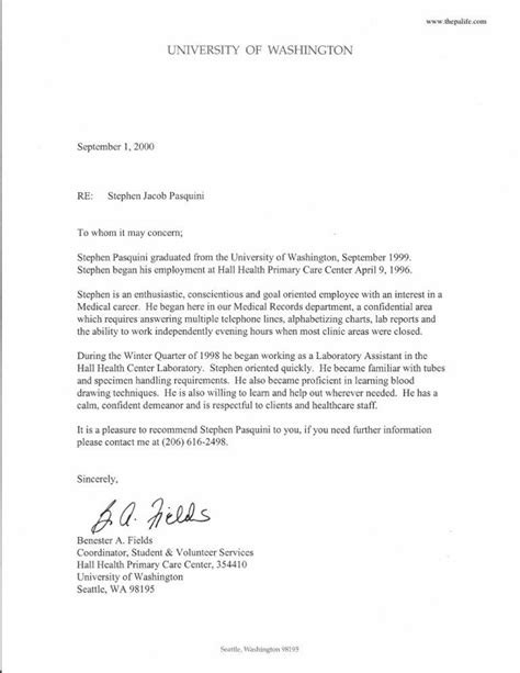 Physician Assistant Application Letter of Recommendation Samples: Applying to PA School