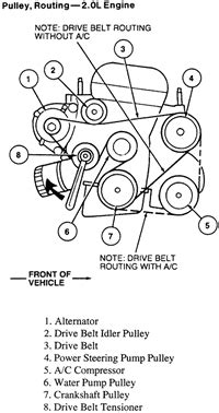 Diagram Replace Serpentine Belt For Ford Focus