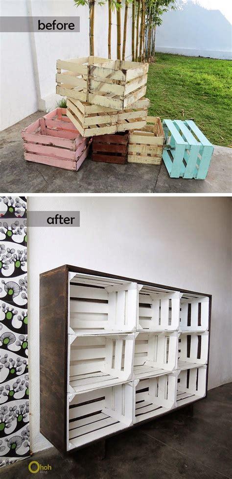 diy crates storage creatividad en madera decoracion de