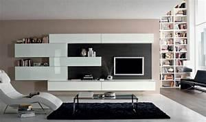 Meuble Salon Noir : laque pour meuble blanc decoration deco design fonce marron gris meubles salon ancien wenge noir ~ Teatrodelosmanantiales.com Idées de Décoration